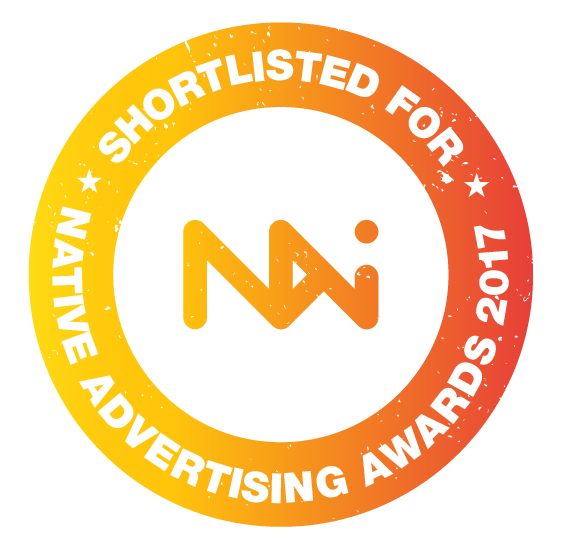 We are shortlisted for a 2017 Native Advertising Award!