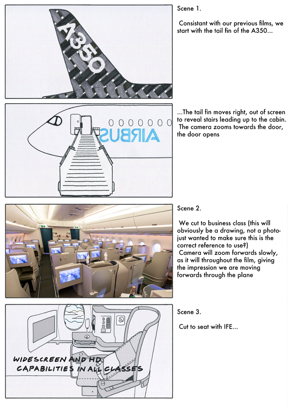 Airbus storyboards